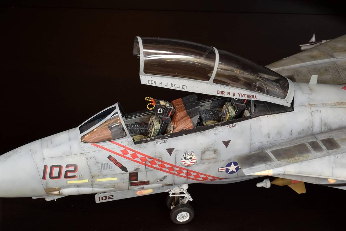 模型誌掲載作例 タミヤ1/32 F-14B 完成品_画像3
