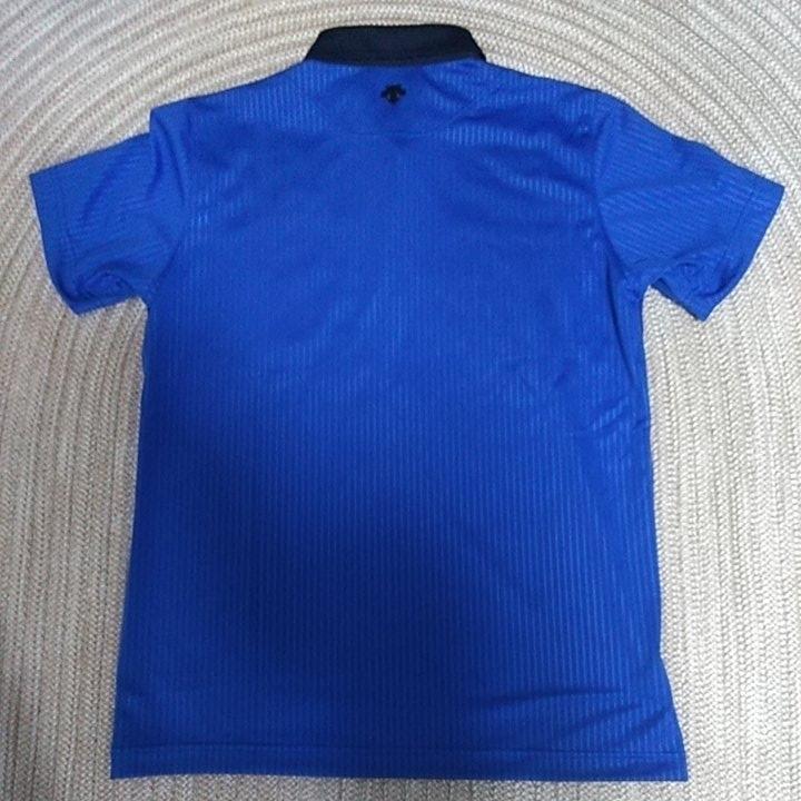 新品 定価10230 SRIXON マスターズモデル サンスクリーン 半袖 ポロシャツ M メンズ 青 日本製 UVケア 遮熱 吸汗 速乾 デサント スリクソン_画像7