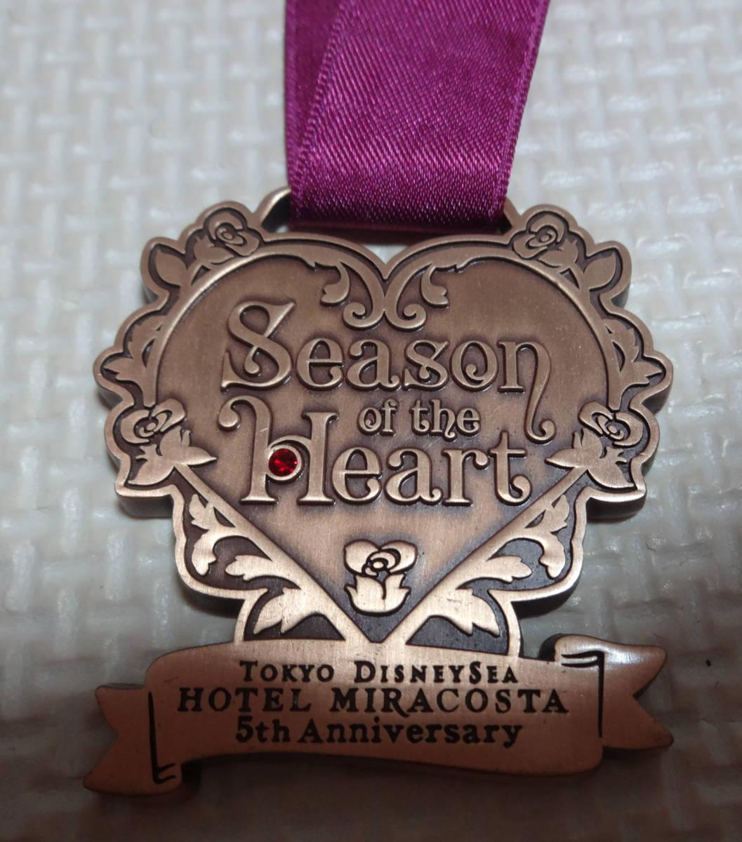 非売品 ディズニー シー ホテル ミラコスタ Season of the Heart ワインメダル 5周年 ハート レア_画像2