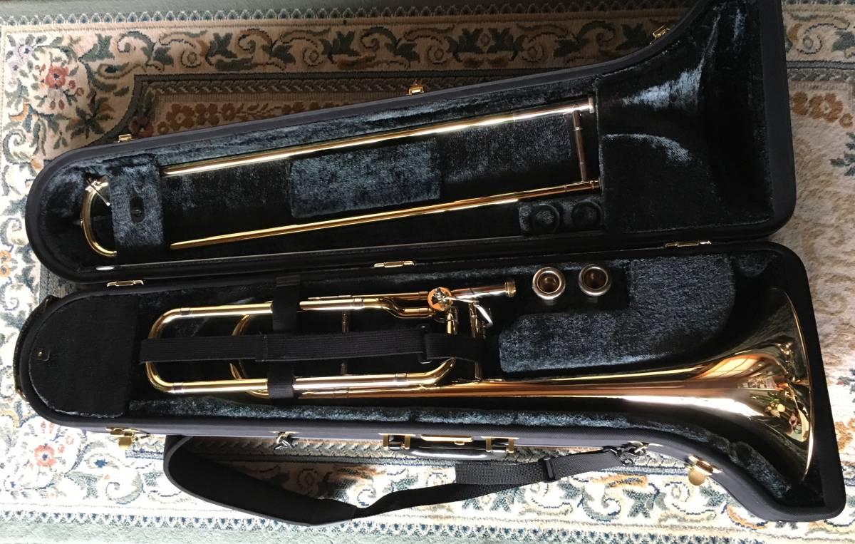 ◇◇BACH◇◇美品 Vincent BACH Stradivarius 42G ヴィンセント・バック テナー トロンボーン ゴールドラッカー 純正ケース付 現状お渡し品_画像1