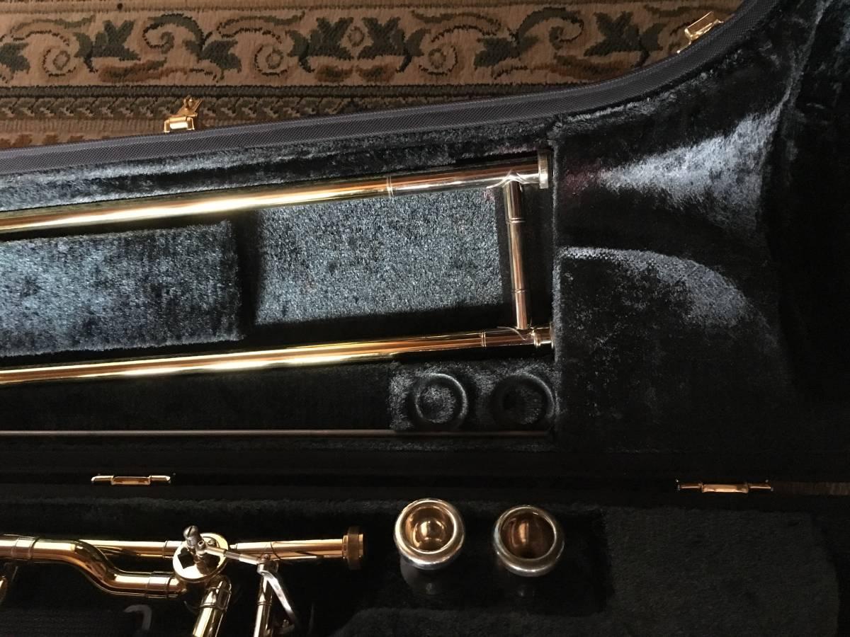 ◇◇BACH◇◇美品 Vincent BACH Stradivarius 42G ヴィンセント・バック テナー トロンボーン ゴールドラッカー 純正ケース付 現状お渡し品_画像3