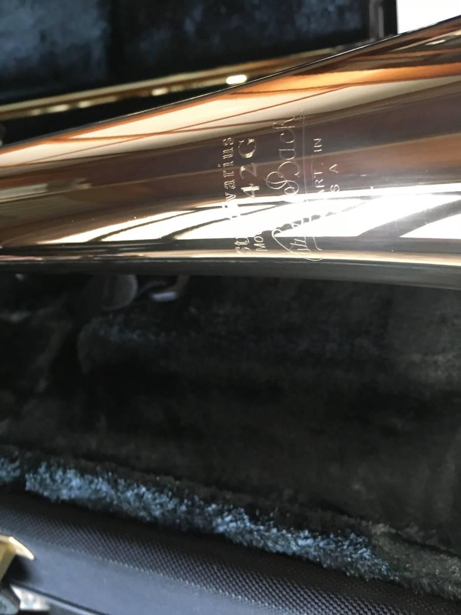◇◇BACH◇◇美品 Vincent BACH Stradivarius 42G ヴィンセント・バック テナー トロンボーン ゴールドラッカー 純正ケース付 現状お渡し品_画像8