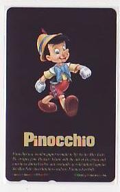 5-h643 ディズニー ピノキオ テレカ_画像1