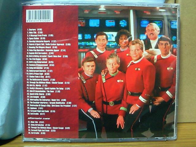 プロモ盤 スター・トレックVI/未知の世界 サントラCD クリフ・エイデルマン 増曲 全35曲 非売品 Star Trek VI: The Undiscovered Country_画像2