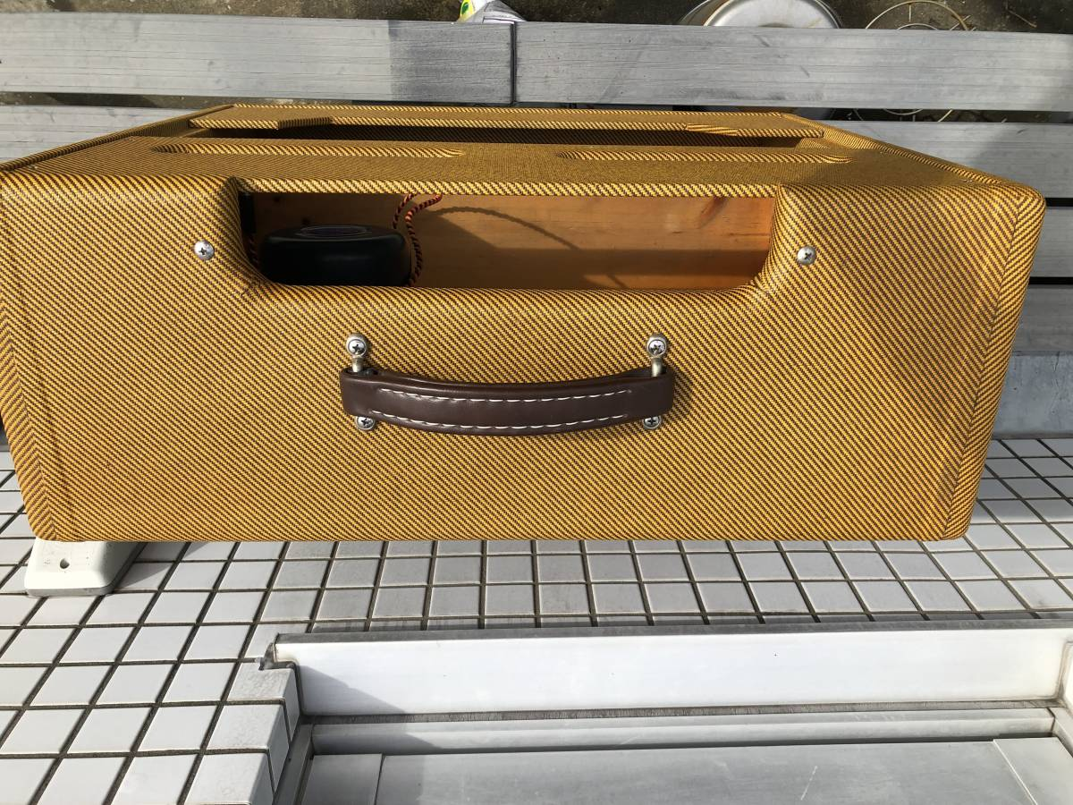 5E3ツイードデラックス用 2x12キャビネット ツイードツイン型 Tweed Twin cabinet with 5E3 chassis cut-out_画像4