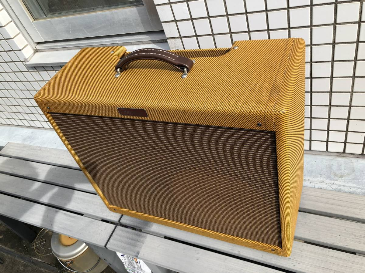 5E3ツイードデラックス用 2x12キャビネット ツイードツイン型 Tweed Twin cabinet with 5E3 chassis cut-out_画像6