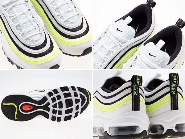新品/NIKE/ナイキ/AIR MAX 97 SE/エアマックス97 SE/WHITE/VOLT/BLACK/ホワイト/ボルト/ブラック/黒/蛍光/白/aq4126-101/27.0cm_画像3