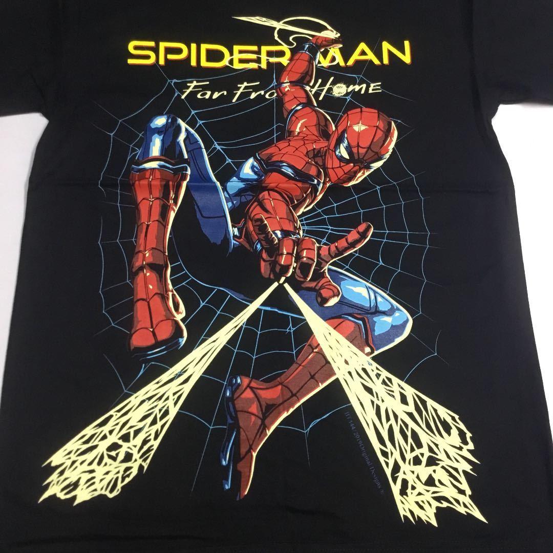 デザインプリントTシャツ Mサイズ スパイダーマン SPIDER MAN マーベル アメコミ SR5A2