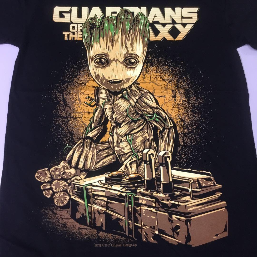 デザインプリントTシャツ Mサイズ ガーディアンズオブギャラクシー グルート GUADIANS OF THE GALAXY GROOT ② SR5A2