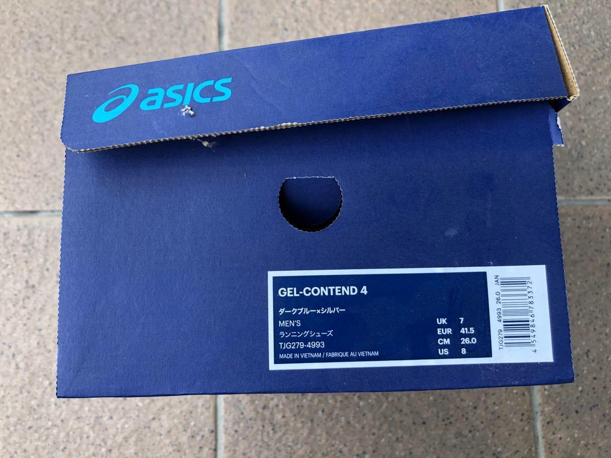 アシックス ランニングシューズ GEL-CONTEND 4 26.0cm メンズ