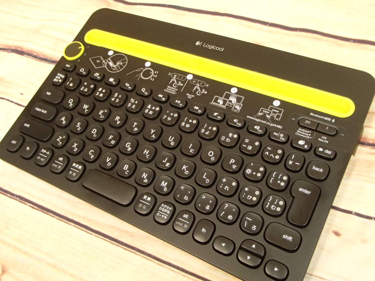 ●Logicool ロジクール K480 BLUETOOTH マルチデバイスキーボード K480BK 3台のBluetooth対応デバイスを簡単に切り替え●_画像6