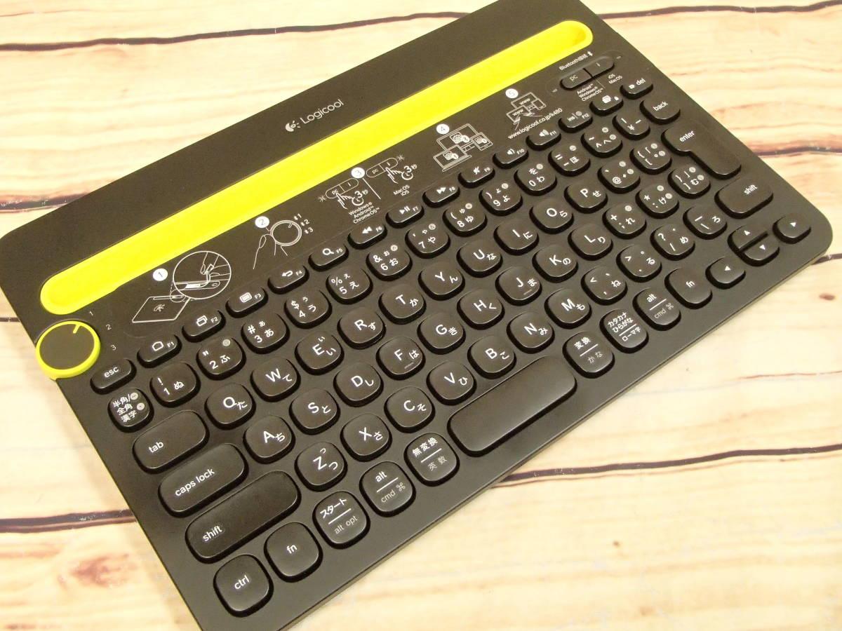 ●Logicool ロジクール K480 BLUETOOTH マルチデバイスキーボード K480BK 3台のBluetooth対応デバイスを簡単に切り替え●_画像2
