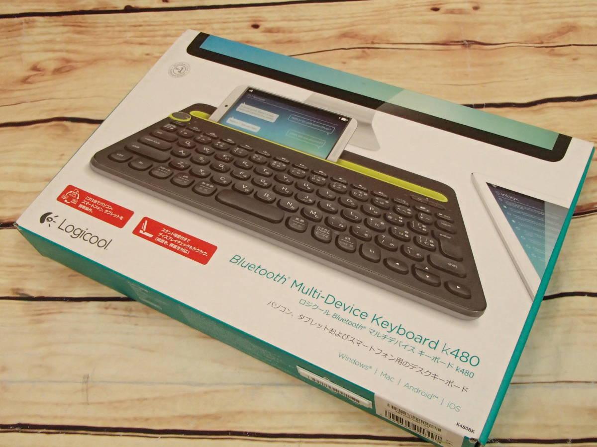 ●Logicool ロジクール K480 BLUETOOTH マルチデバイスキーボード K480BK 3台のBluetooth対応デバイスを簡単に切り替え●