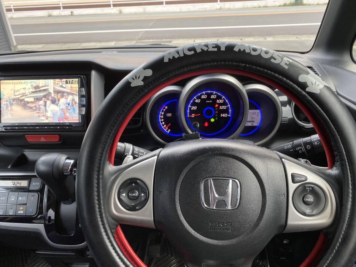 「H25年式 ホンダ N-BOXカスタムターボ ワンオーナー クルコン 両側パワースライドドア 地デジ ETC、パドルシフト、無事故車」の画像3