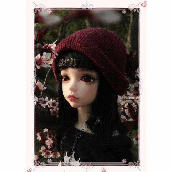 球体関節人形 本体+眼球+メイクアップ済 創作 オリジナル BJD カスタムドール 女の子 かわいい 1/6 ノーマル A063_画像3