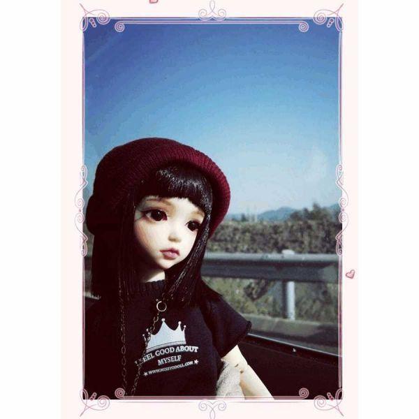 球体関節人形 本体+眼球+メイクアップ済 創作 オリジナル BJD カスタムドール 女の子 かわいい 1/6 ノーマル A063_画像2