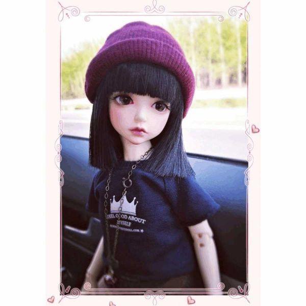 球体関節人形 本体+眼球+メイクアップ済 創作 オリジナル BJD カスタムドール 女の子 かわいい 1/6 ノーマル A063_画像1