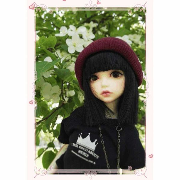 球体関節人形 本体+眼球+メイクアップ済 創作 オリジナル BJD カスタムドール 女の子 かわいい 1/6 ノーマル A063_画像6