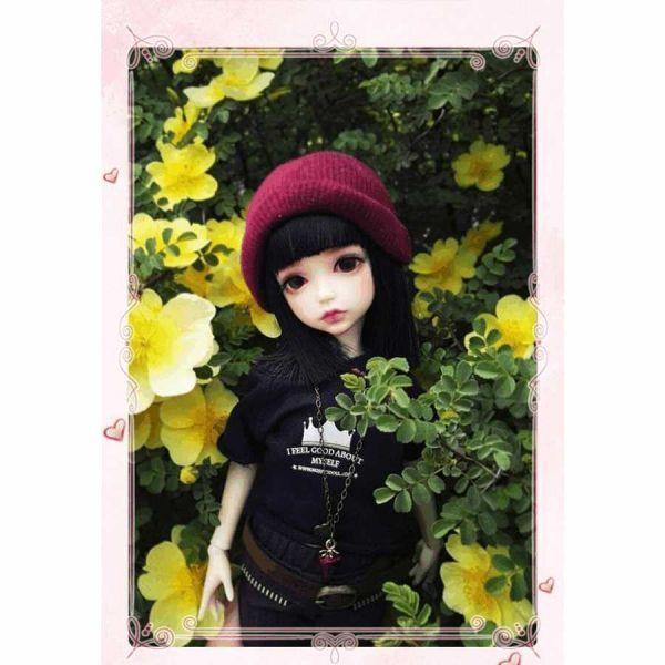 球体関節人形 本体+眼球+メイクアップ済 創作 オリジナル BJD カスタムドール 女の子 かわいい 1/6 ノーマル A063_画像4