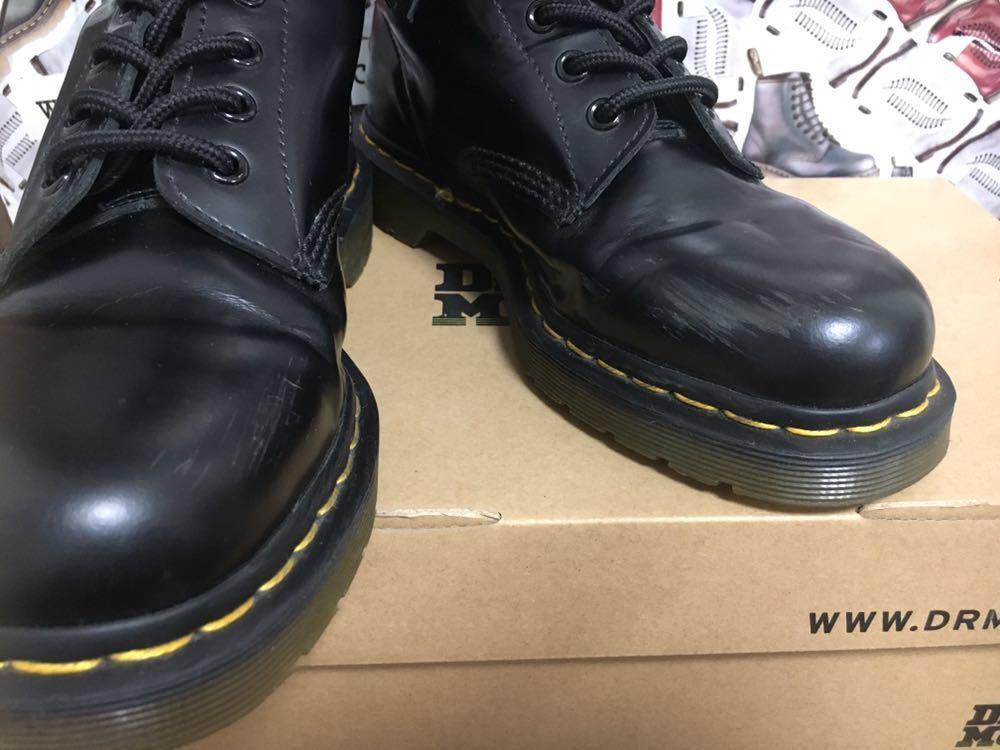 【靴紐新品】Dr.MARTENS ドクターマーチン 8ホール レースアップブーツ ユニセックス ブラック UK6 USM7 USL8 25cm black 黒 スムース 箱_画像4