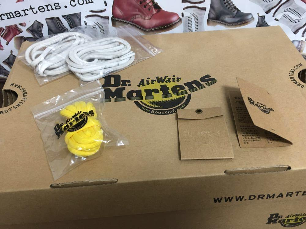 【靴紐新品】Dr.MARTENS ドクターマーチン 8ホール レースアップブーツ ユニセックス ブラック UK6 USM7 USL8 25cm black 黒 スムース 箱_画像9