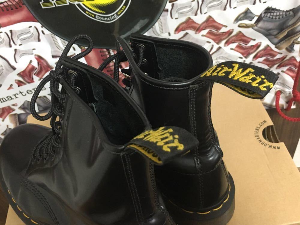 【靴紐新品】Dr.MARTENS ドクターマーチン 8ホール レースアップブーツ ユニセックス ブラック UK6 USM7 USL8 25cm black 黒 スムース 箱_画像6