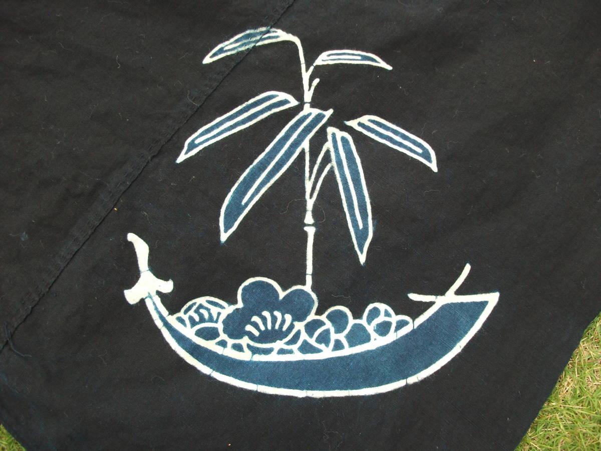 松葉の舟に梅の宝物、帆の役目はは竹の笹