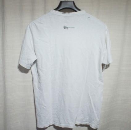 OLD STUSSY ステューシー USA製 恐竜プリント 半袖Tシャツ L 白/ヴィンテージ ビンテージ 80s 90s 黒タグ ダイナソー ティラノサウルス_画像2