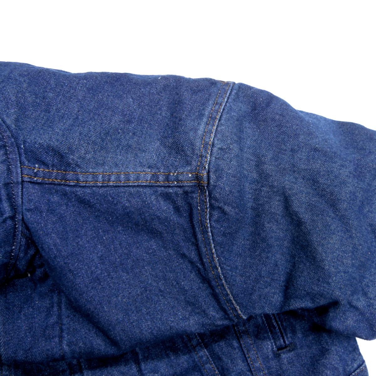 ☆送料無料☆ デッドストック 80s ビンテージ LEVIS リーバイス 70506 USA製 デニム ジャケット Gジャン ジージャン ブランケット 古着_画像9