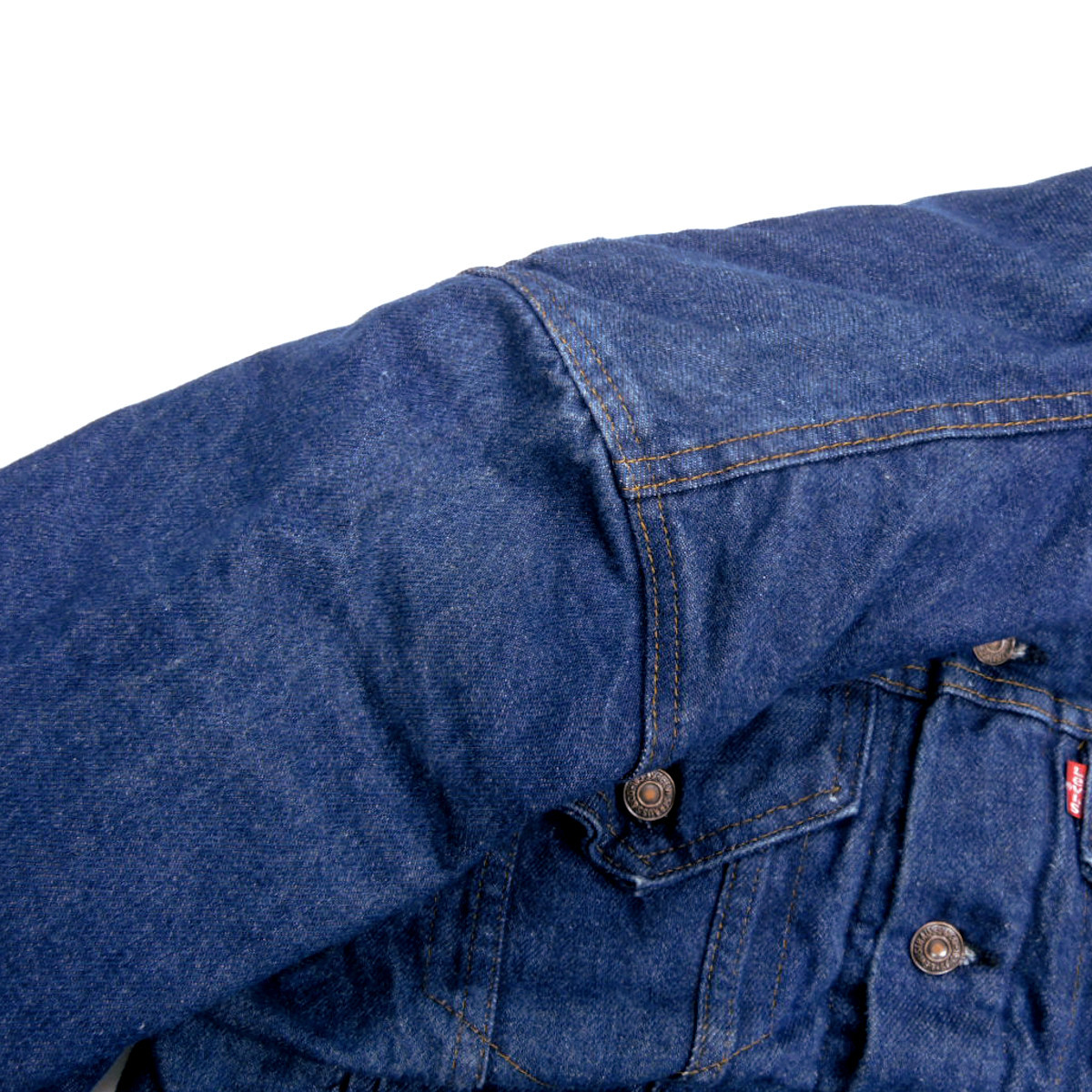 ☆送料無料☆ デッドストック 80s ビンテージ LEVIS リーバイス 70506 USA製 デニム ジャケット Gジャン ジージャン ブランケット 古着_画像8