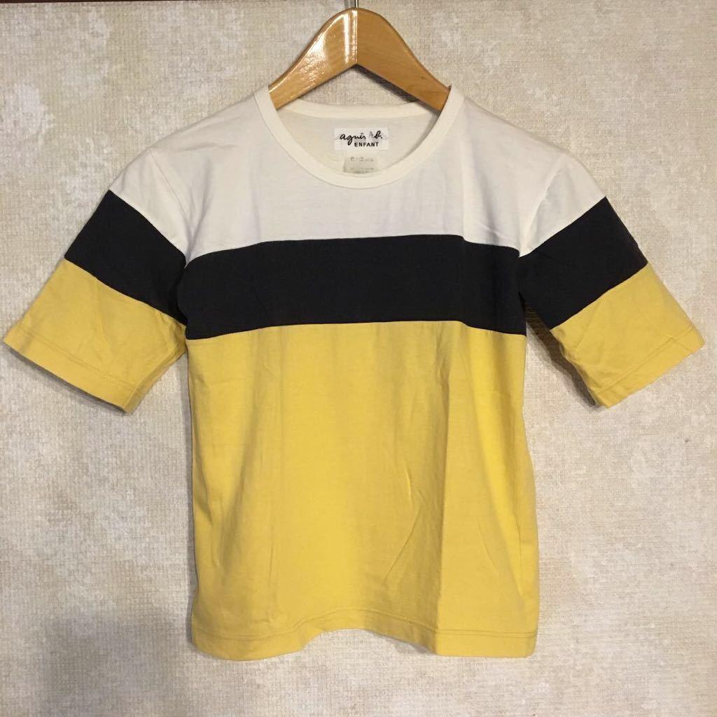 レア!agnes b. アニエスベー ワイドボーダー ボーダー カットソー 半袖 Tシャツ 半袖カットソー トップス レディース 古着