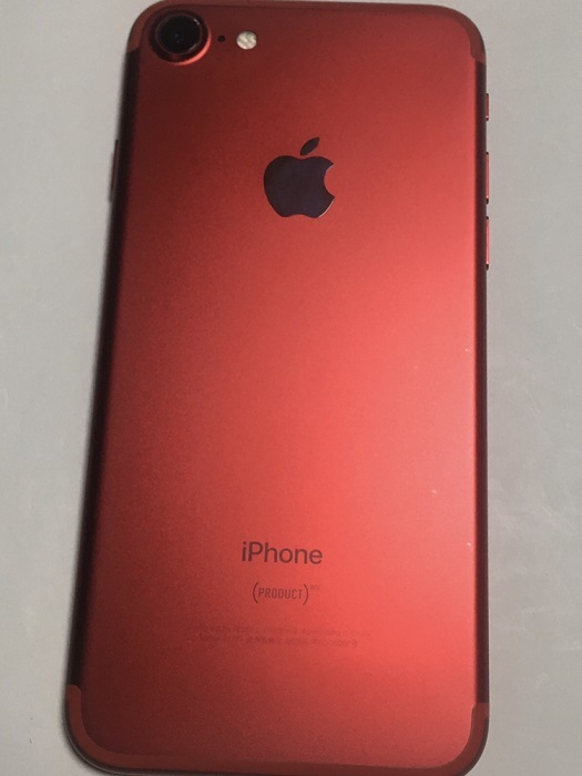 iPhone7 128GB PRODUCTRED プロダクトレッド au docomo SoftBank SIMフリー SIMロック解除済 バッテリー91% 残債無し 送料210円