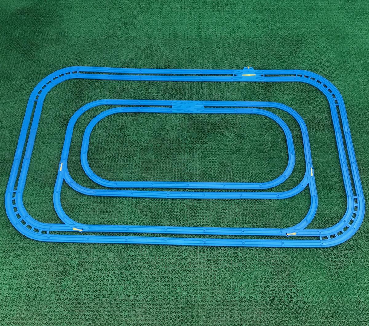 プラレール② 直線 曲線 複線曲線レール 複線わたりポイントレール ターンアウトレール 単線複線 レア タカラトミー 大量_画像7
