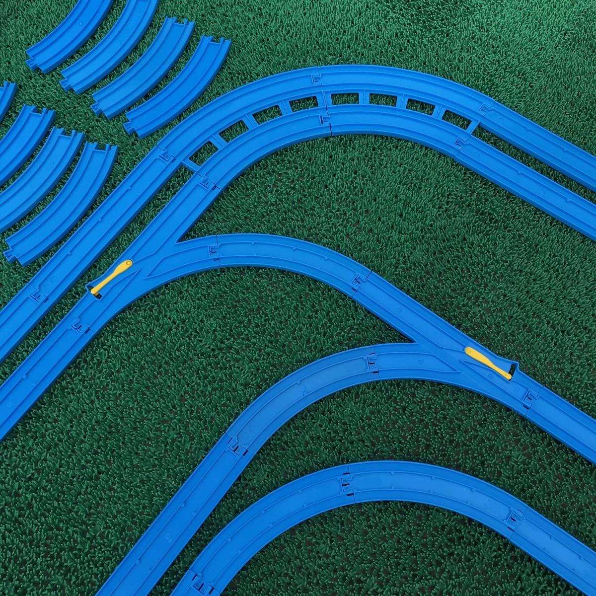 プラレール② 直線 曲線 複線曲線レール 複線わたりポイントレール ターンアウトレール 単線複線 レア タカラトミー 大量_画像5