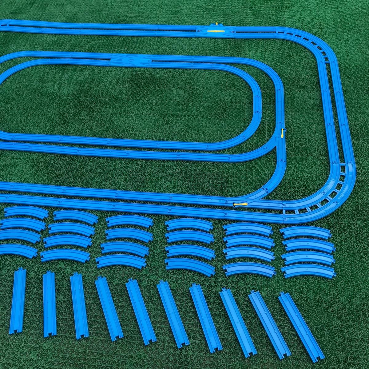プラレール② 直線 曲線 複線曲線レール 複線わたりポイントレール ターンアウトレール 単線複線 レア タカラトミー 大量_画像3