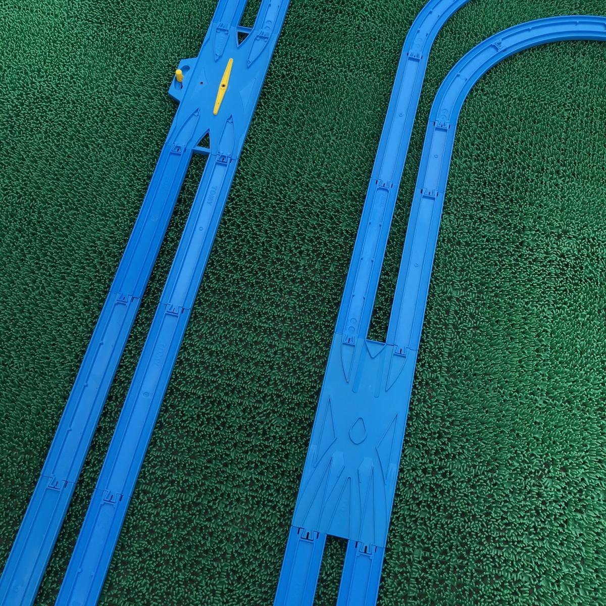 プラレール② 直線 曲線 複線曲線レール 複線わたりポイントレール ターンアウトレール 単線複線 レア タカラトミー 大量_画像4