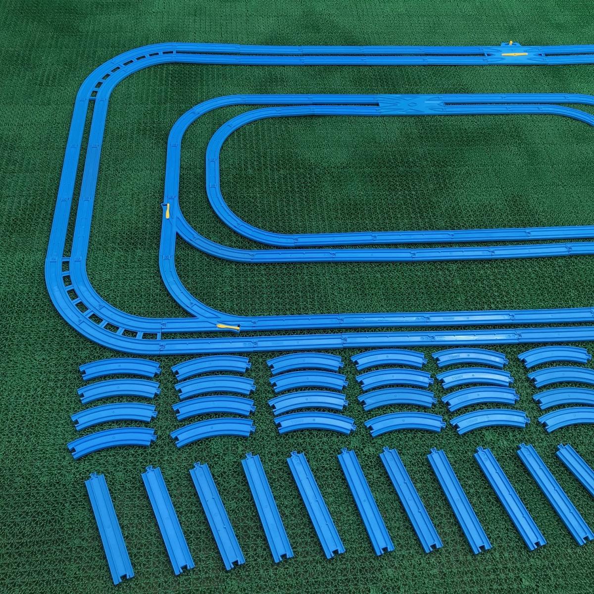 プラレール② 直線 曲線 複線曲線レール 複線わたりポイントレール ターンアウトレール 単線複線 レア タカラトミー 大量_画像2
