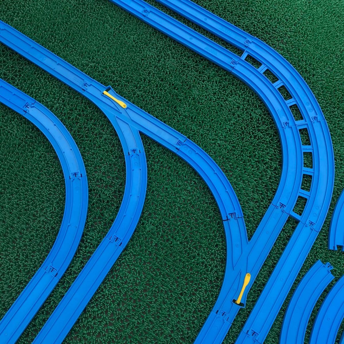 プラレール② 直線 曲線 複線曲線レール 複線わたりポイントレール ターンアウトレール 単線複線 レア タカラトミー 大量_画像6