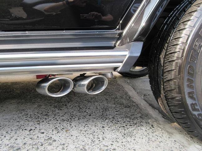 メルセデスベンツGクラスW463デビルマフラーG350/dオーバルテールマフラー中古_画像2