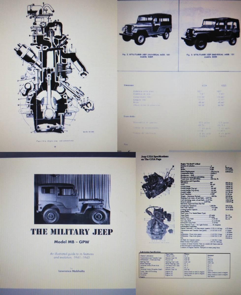 Willys jeep MB M38 CJ-2A CJ-3B 整備書 部品書 GPW ミリタリージープ PDF 資料DVD _本の中身、一部ピックアップです。