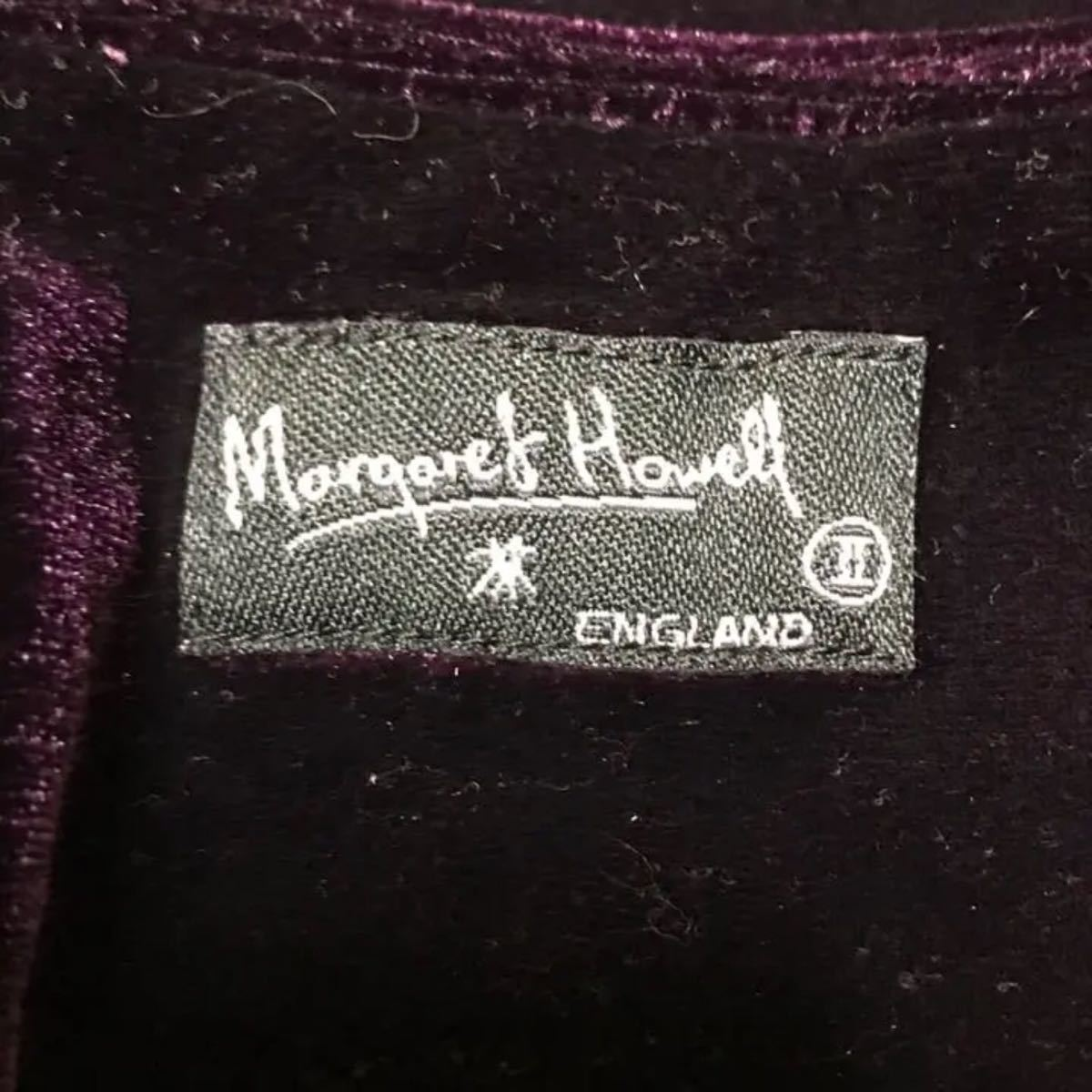 Margaret Howell ベロア生地 スカート 紫 マーガレットハウエル