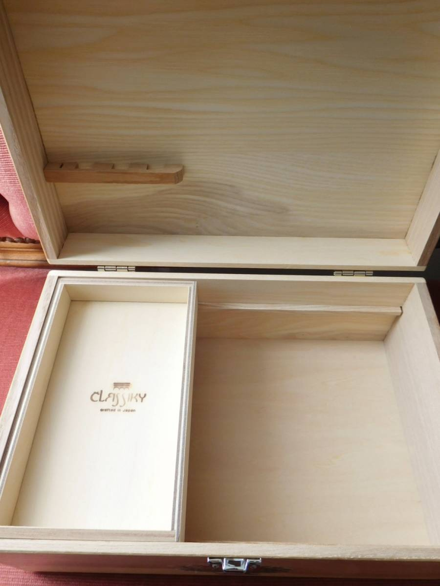 ◆アンティーク&ヴィクトリアン調 デコパージュボックス 裁縫箱 救急箱 メイクボックス 小物入れ クロモス 天使 薔薇◆_画像8