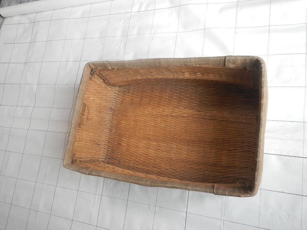 昭和レトロ アンティーク ビンテージ 布張り籠 本物_画像5
