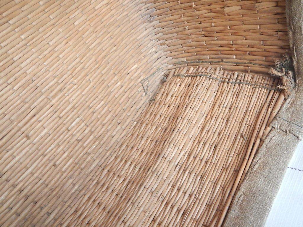 昭和レトロ アンティーク ビンテージ 布張り籠 本物_画像3