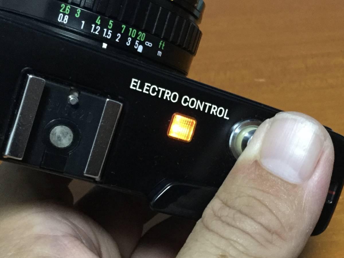 MINOLTA ミノルタ HI-MATIC E ブラック 動作美品 モルト交換済み ジャンク扱い_画像8