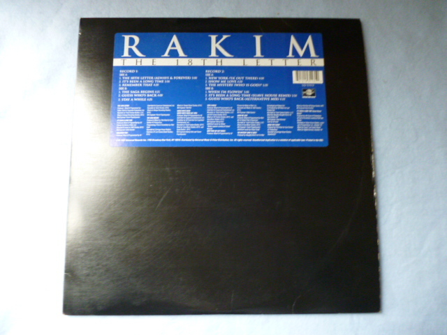 Rakim / The 18th Letter 試聴可 オリジナル盤 2LP 名盤 The Saga Begins / Guess Who's Back / It's Been A Long Time収録_画像1