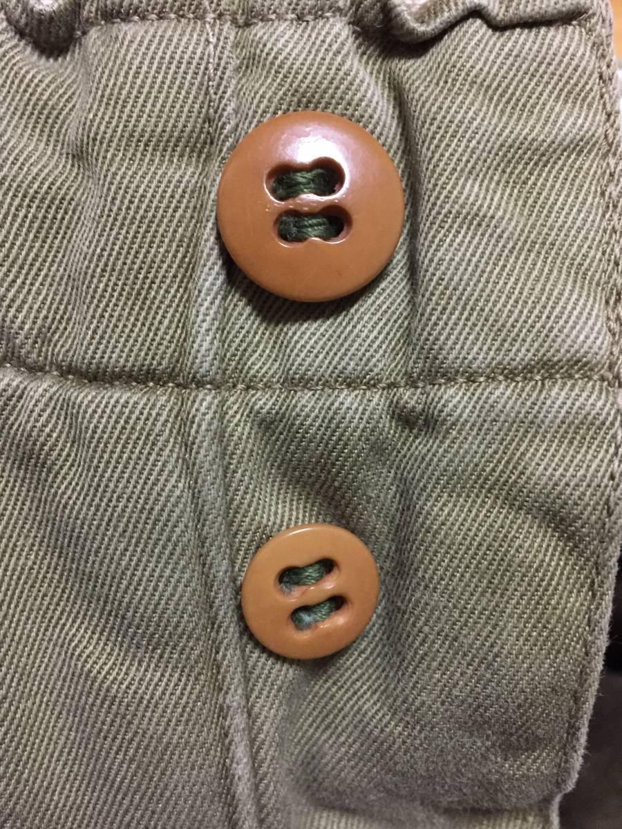 40s ビンテージ ダブルステッチ チノ ライナー付き 実物 アーミー 米軍 40年代 大戦 ARMY 45カーキ パンツ_画像5