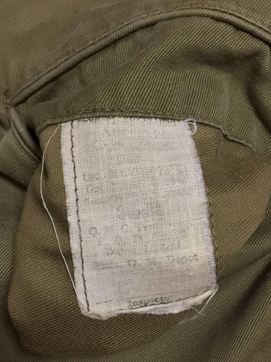 40s ビンテージ ダブルステッチ チノ ライナー付き 実物 アーミー 米軍 40年代 大戦 ARMY 45カーキ パンツ_画像6