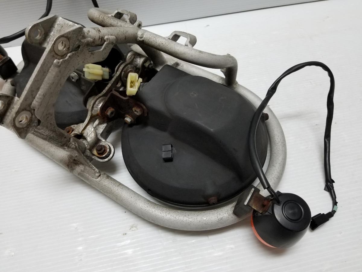 即決 ホンダ XR250 BAJA バハ MD30 ヘッドライト フロントウインカー ステー 4_画像9