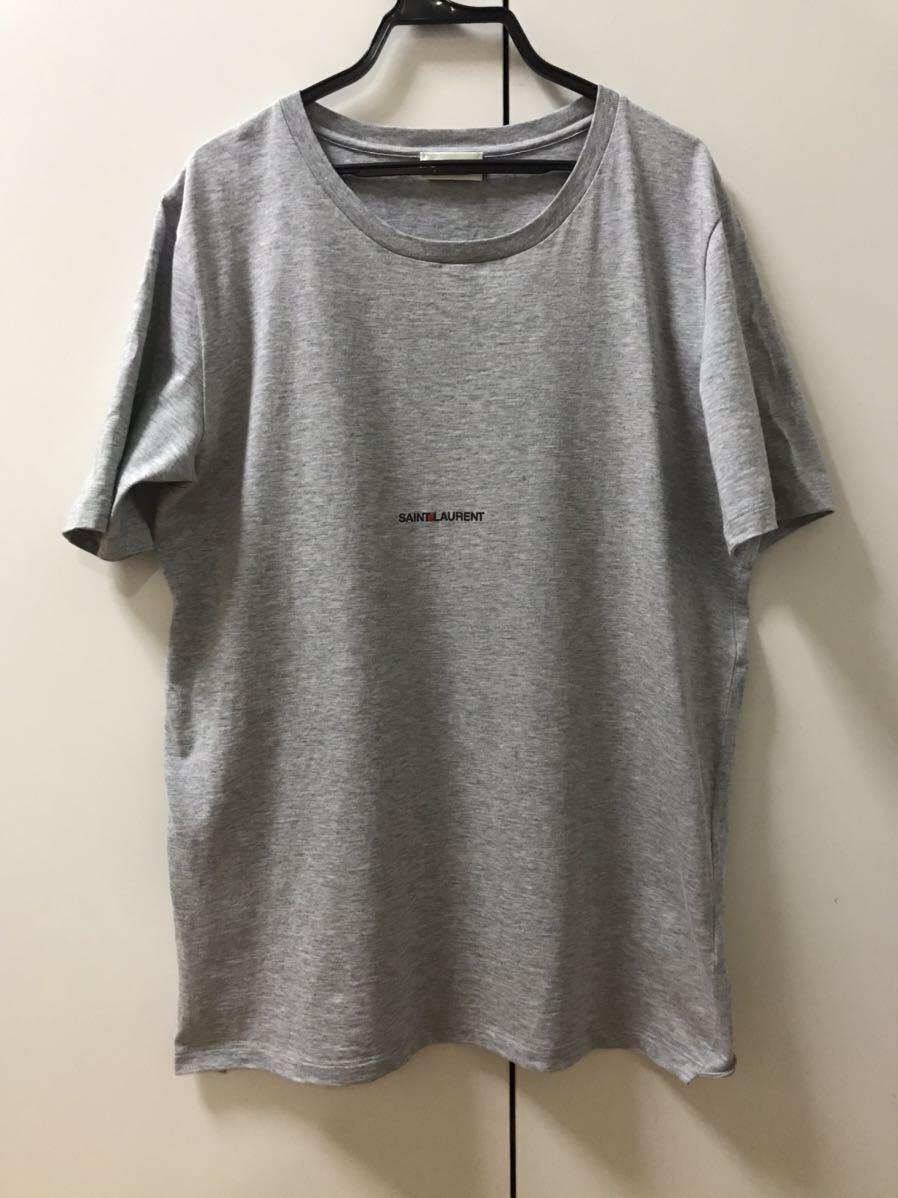 【超美品】サンローラン ロゴTシャツ SAINT LAURENTクラッシュデニムパンツシャツレザーライダースジャケットバレンシアガ